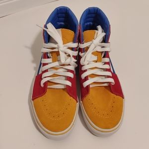 NEW Vans SK8 high top primary color block sneakers